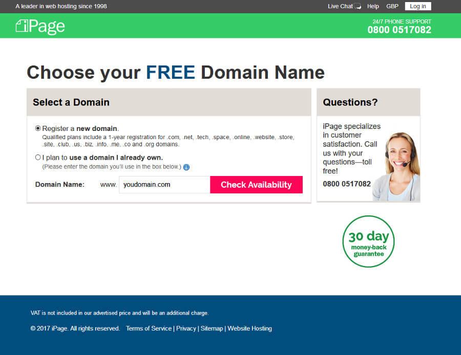 iPage domain