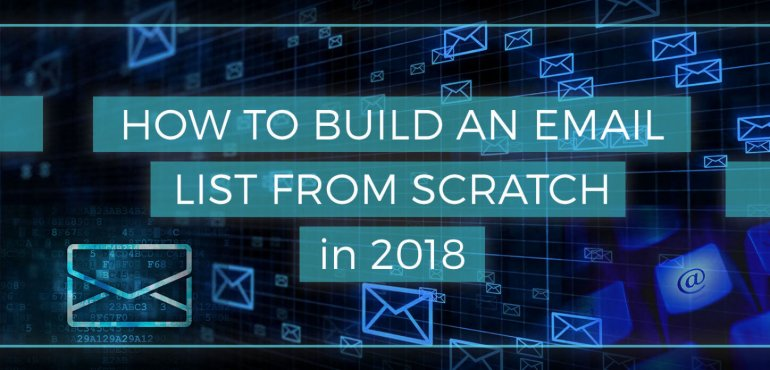 Image of How to build an email list from scratch in 2018