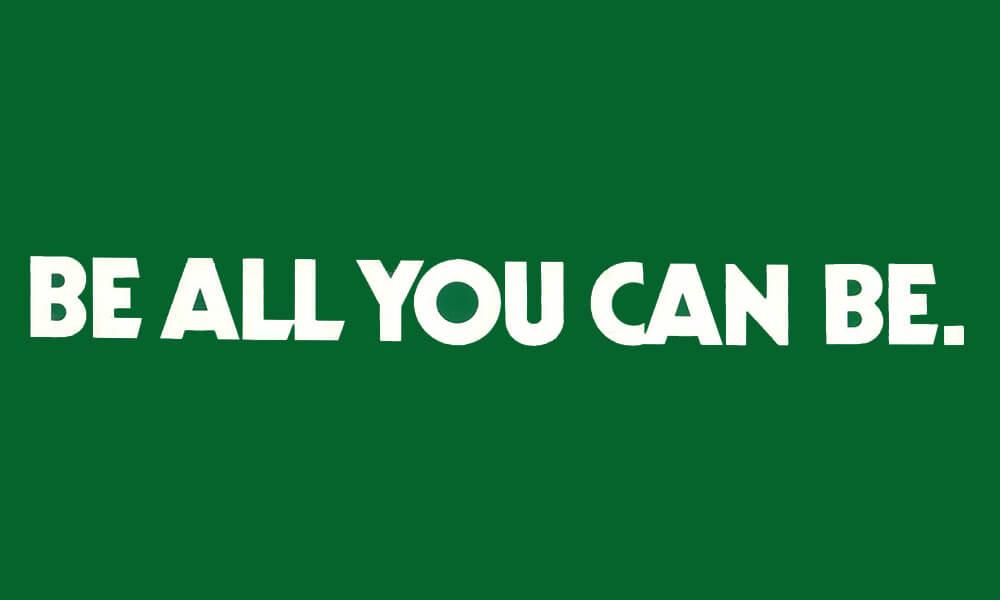 Image of U.S. ARMY slogan