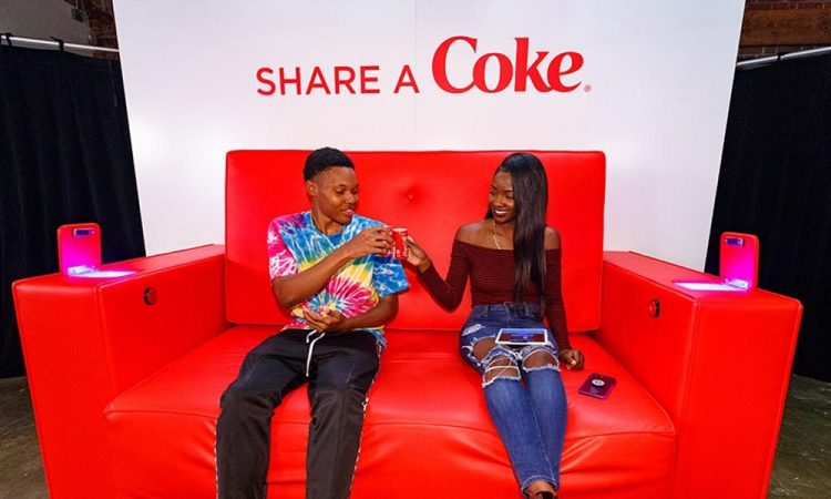 Image of Coca-Cola's marketing strategy for this campaign was to encourage its customers to connect with those dear to them